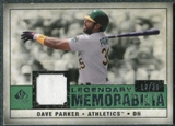 2008 Upper Deck SP Legendary Cuts Legendary Memorabilia Dark Green #DP2 Dave Parker /39