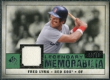 2008 Upper Deck SP Legendary Cuts Legendary Memorabilia Dark Green Parallel #FL Fred Lynn /19