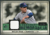 2008 Upper Deck SP Legendary Cuts Legendary Memorabilia Dark Green Parallel #NR Nolan Ryan /34