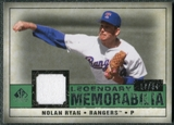 2008 Upper Deck SP Legendary Cuts Legendary Memorabilia Dark Green Parallel #NR2 Nolan Ryan /34