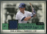 2008 Upper Deck SP Legendary Cuts Legendary Memorabilia Dark Green Parallel #PO Paul O'Neill /21
