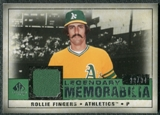 2008 Upper Deck SP Legendary Cuts Legendary Memorabilia Dark Green #RF Rollie Fingers /34