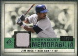2008 Upper Deck SP Legendary Cuts Legendary Memorabilia Dark Green Parallel #RI Jim Rice /14