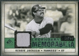 2008 Upper Deck SP Legendary Cuts Legendary Memorabilia Dark Green #RJ Reggie Jackson /44