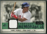 2008 Upper Deck SP Legendary Cuts Legendary Memorabilia Dark Green Parallel #TP2 Tony Perez /30