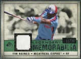 2008 Upper Deck SP Legendary Cuts Legendary Memorabilia Dark Green Parallel #TR Tim Raines /30