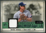 2008 Upper Deck SP Legendary Cuts Legendary Memorabilia Dark Green Parallel #WB Wade Boggs /26