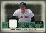 2008 Upper Deck SP Legendary Cuts Legendary Memorabilia Dark Green #WB2 Wade Boggs 8/26