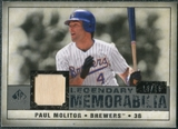 2008 Upper Deck SP Legendary Cuts Legendary Memorabilia Gray Parallel #PM Paul Molitor /15