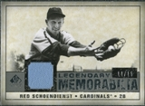 2008 Upper Deck SP Legendary Cuts Legendary Memorabilia Gray #SC Red Schoendienst /15