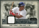 2008 Upper Deck SP Legendary Cuts Legendary Memorabilia Gray Parallel #TP2 Tony Perez /15