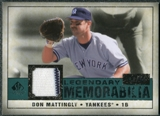 2008 Upper Deck SP Legendary Cuts Legendary Memorabilia Green Parallel #DM Don Mattingly /99