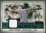 2008 Upper Deck SP Legendary Cuts Legendary Memorabilia Green Parallel #DP2 Dave Parker /99