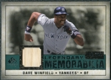 2008 Upper Deck SP Legendary Cuts Legendary Memorabilia Green Parallel #DW Dave Winfield /99