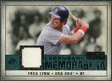 2008 Upper Deck SP Legendary Cuts Legendary Memorabilia Green Parallel #FL Fred Lynn /99