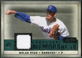 2008 Upper Deck SP Legendary Cuts Legendary Memorabilia Green Parallel #NR2 Nolan Ryan /99