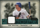 2008 Upper Deck SP Legendary Cuts Legendary Memorabilia Green Parallel #PM Paul Molitor /99