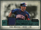 2008 Upper Deck SP Legendary Cuts Legendary Memorabilia Green Parallel #PM2 Paul Molitor /99