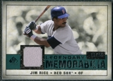 2008 Upper Deck SP Legendary Cuts Legendary Memorabilia Green Parallel #RI Jim Rice /99