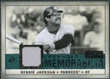2008 Upper Deck SP Legendary Cuts Legendary Memorabilia Green Parallel #RJ Reggie Jackson /75