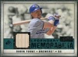2008 Upper Deck SP Legendary Cuts Legendary Memorabilia Green Parallel #RY Robin Yount /99