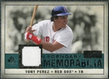 2008 Upper Deck SP Legendary Cuts Legendary Memorabilia Green Parallel #TP2 Tony Perez /99