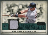 2008 Upper Deck SP Legendary Cuts Legendary Memorabilia Green #WC Will Clark /99