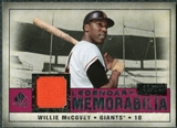 2008 Upper Deck SP Legendary Cuts Legendary Memorabilia Red # WM Willie McCovey /10