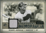 2008 Upper Deck SP Legendary Cuts Legendary Memorabilia Taupe Parallel #RJ Reggie Jackson /10