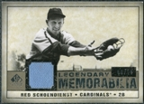 2008 Upper Deck SP Legendary Cuts Legendary Memorabilia Taupe Parallel #SC Red Schoendienst /10