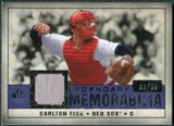 2008 Upper Deck SP Legendary Cuts Legendary Memorabilia Violet #CF Carlton Fisk /50