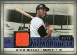 2008 Upper Deck SP Legendary Cuts Legendary Memorabilia Violet Parallel #WM Willie McCovey /10
