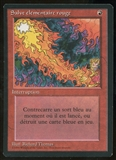 Magic the Gathering 3rd Ed (Revised) Single Red Elemental Blast FRENCH BB - SLIGHT PLAY (SP)