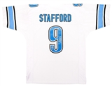 Matthew Stafford Autographed Detroit Lions White Jersey (Stafford Holo Leaf)