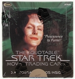 Star Trek Quotable Movie Trading Cards Box (Rittenhouse 2010)