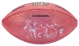 Steve McNair Autographed Tennessee Titans Official NFL Game Stamped Football (PSA)