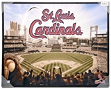 Artissimo St Louis Cardinals Busch Stadium 22x28 Canvas