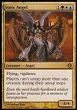 Magic the Gathering Shards of Alara Single Stoic Angel FOIL - SLIGHT PLAY (SP)