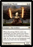 Magic the Gathering Worldwake Single Stoneforge Mystic FOIL