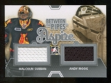 2012/13 In the Game Between The Pipes Aspire Jerseys Silver #ASP12 Malcolm Subban/Andy Moog /140