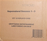Supernatural Seasons 1-3 Trading Cards 12-Box Case (Cryptozoic 2014)