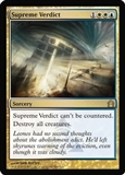 Magic the Gathering Return to Ravnica Single Supreme Verdict Foil