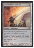 Magic the Gathering Darksteel Single Sword of Fire and Ice FOIL