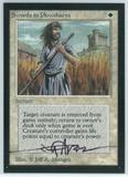 Magic the Gathering Beta Artist Proof Swords to Plowshares - SIGNED BY JEFF A MENGES
