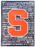 Artissimo Syracuse Orange Typography Basketball 18x24 Canvas