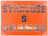 Artissimo Syracuse Orange Color Pride 24x18 Canvas