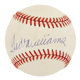 Ted Williams Autographed Boston Red Sox Official American League Baseball (PSA)