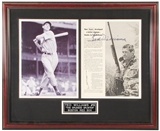 Ted Williams Autographed Boston Red Sox Framed 8x10(x2) Photo (JSA)