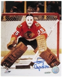 Tony Esposito Autographed Chicago Blackhawks 8x10 Hockey Photo (UDA)
