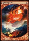 Magic the Gathering Promo Single Lightning Bolt PLAYER REWARDS FOIL - MODERATE PLAY (MP)